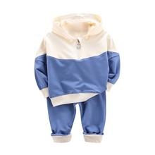 все цены на Autumn Boys Girls Clothes Sets Baby Long Sleeve Hoodie Sweatshirt Tops+Pants Trouser Toddler Boy Clothing Casual Kids Outfits онлайн