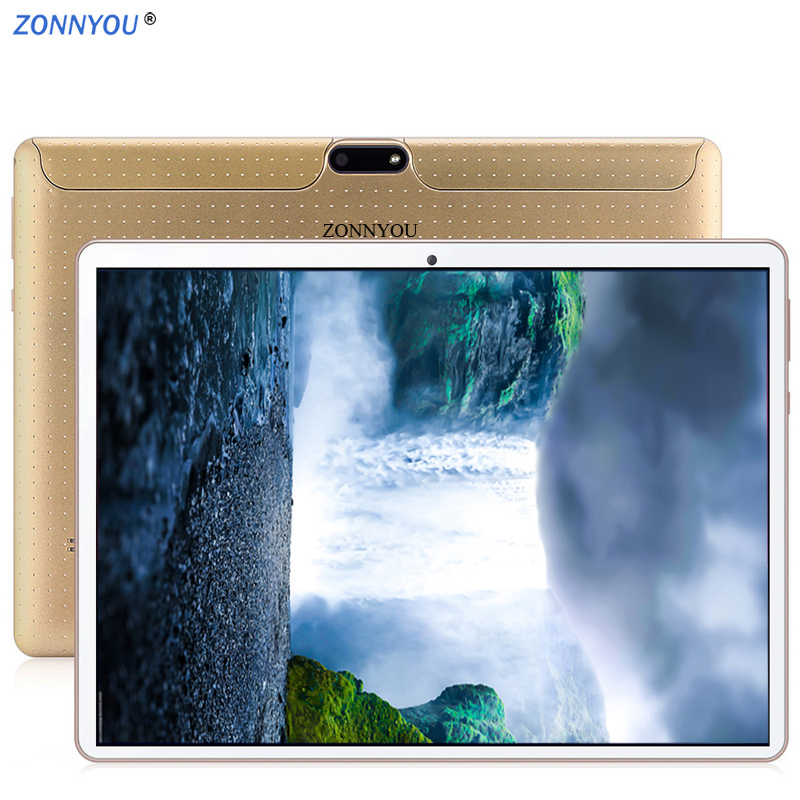 10.1 Inch Tablet PC 3G Phone Call Tablet PC 64GB  Google Android 7.0 Octa Core Dual SIM GPS FM BT OTG Tablet PC