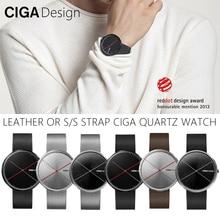 цена CIGA DESIGN CIGA Quartz Watch Fashion Simple Quartz Steel/Leather Belt Red Dot Design Award Watch Men Watch X series онлайн в 2017 году
