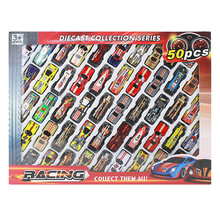 50pcs Kid Mini Toy Car Set Car Garage Toy 1:64 Hot Diecast Alloy Metal Racing Car Model Boy Children Christmas Birthday Gift