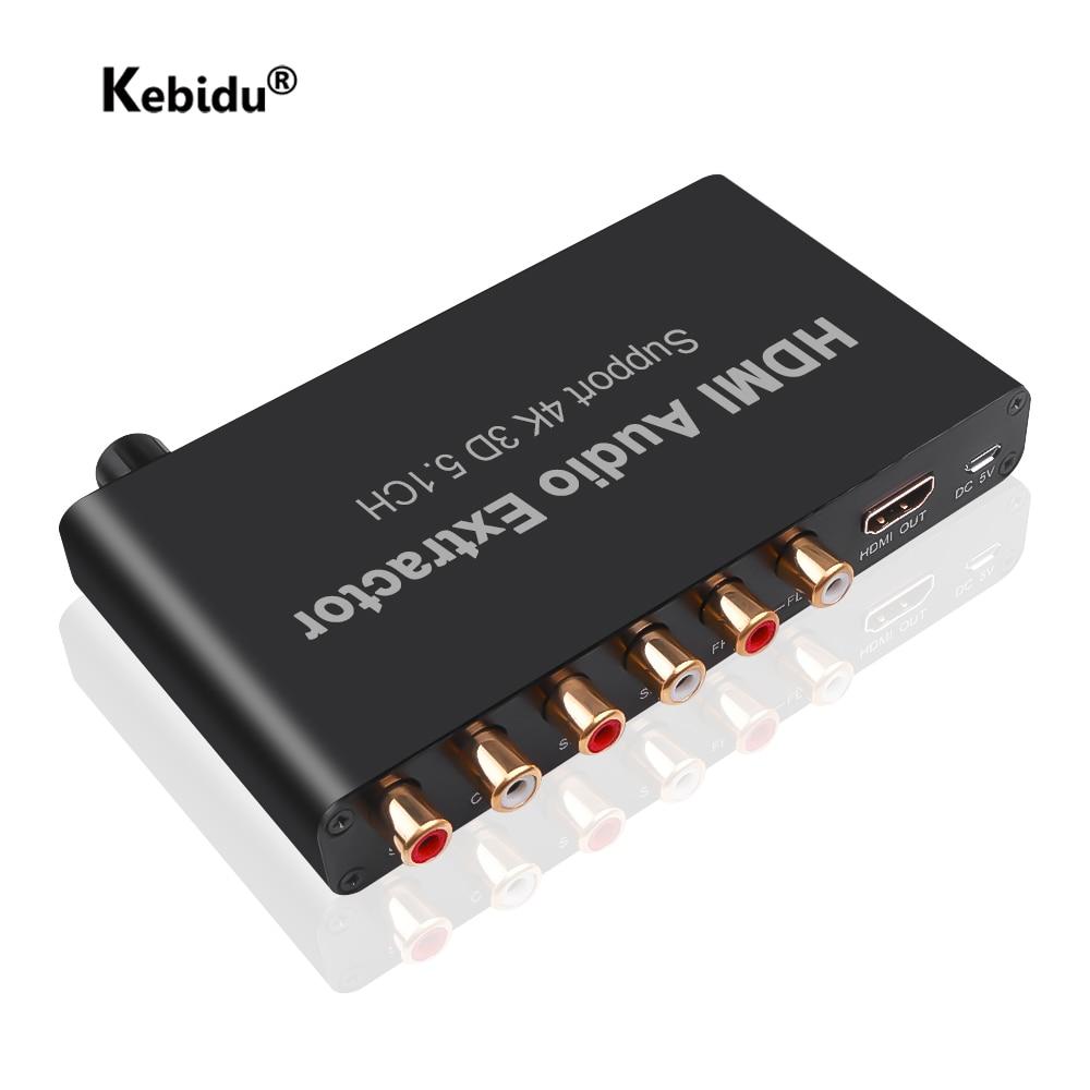 4K HDMI-совместимый аудио экстрактор Расшифровка коаксиальный к RCA AC3/DST to 5,1 аналоговый конвертер 5.1CH 3D для PS4 DVD-плеера