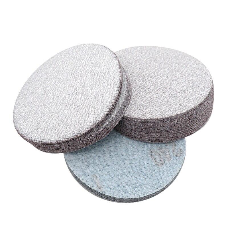 3-Inch Disc Sandpaper Self-Adhesive Sandpaper Napper Bei Rong Pian Flocked Dry Sandpaper Polishing White Sand Dry Sand