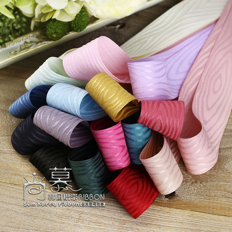 100yards 25mm 40mm jacquard herringbone satin ribbon for hair bow diy accessories bouquet packing