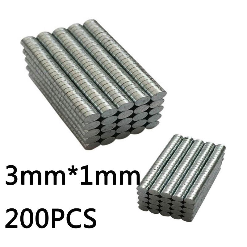 200 шт/400 шт супер сильные неодимовые магниты Редкоземельные постоянные магниты N35 дисковый на холодильник ремесло(это маленькие магниты - Цвет: 3mm x 1mm(200pcs)