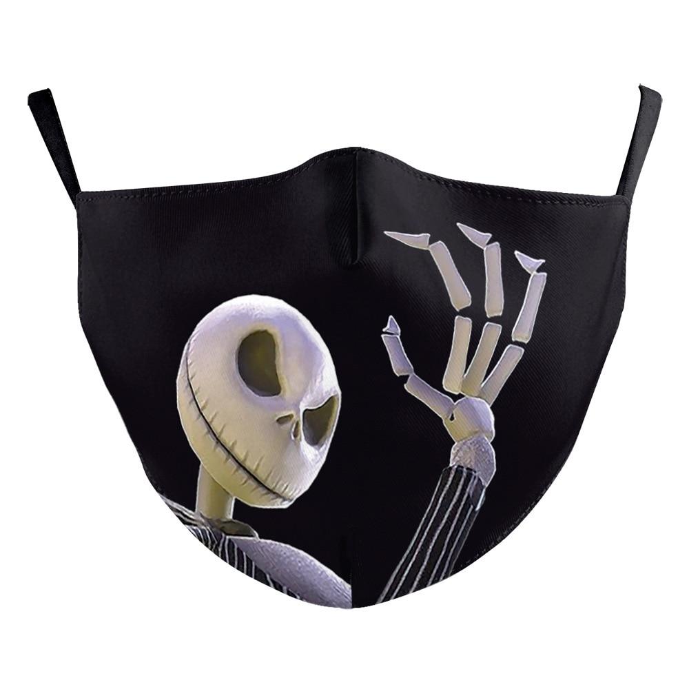 The Nightmare Before Christmas Jack Skellington Face Mask Adult Halloween Cosplay Costume Men Props 7