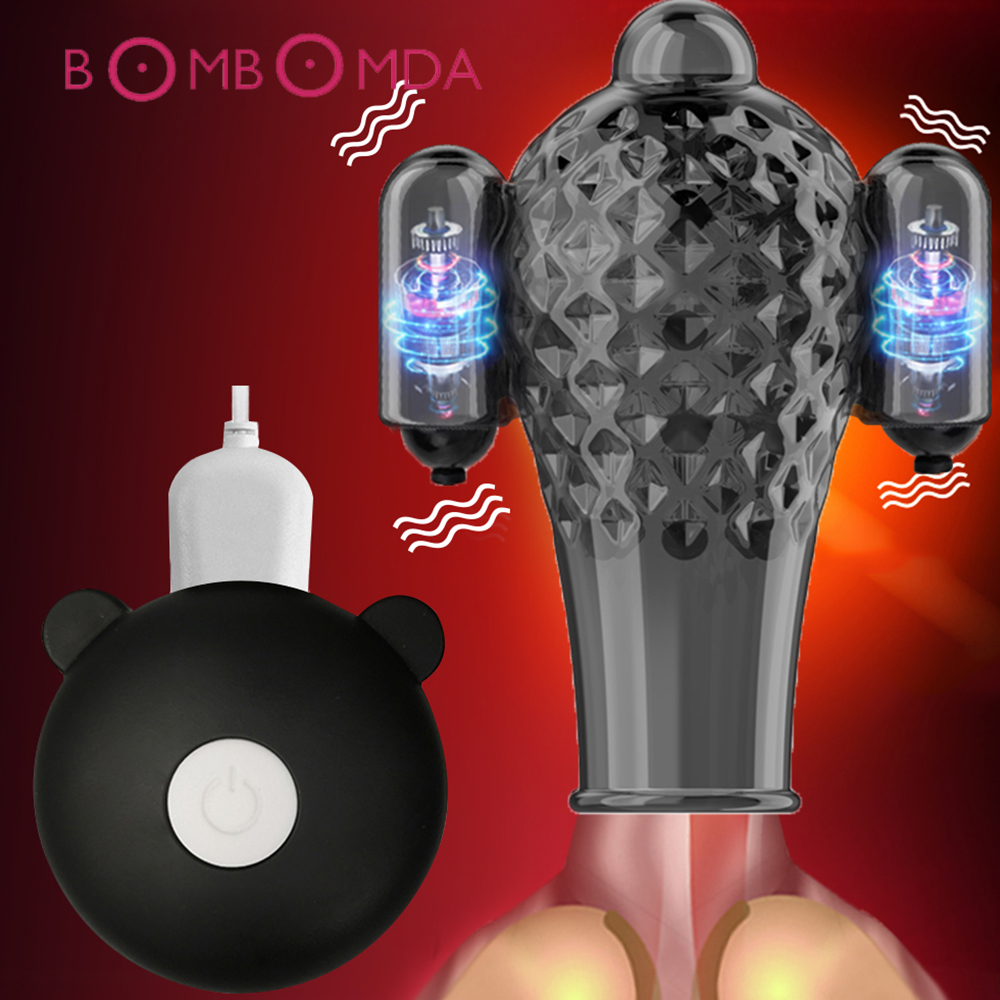 Glans Vibrator For Men Penis Enlargement 20 Speed Glans Massager Penis Endurance Delay Lasting Trainer Masturbate Cup Adult Toys