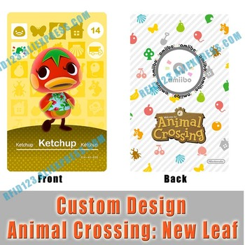 WA14 Ketchup Custom Design Animal Crossing Amiibo Card Welcome Amiibo New Leaf