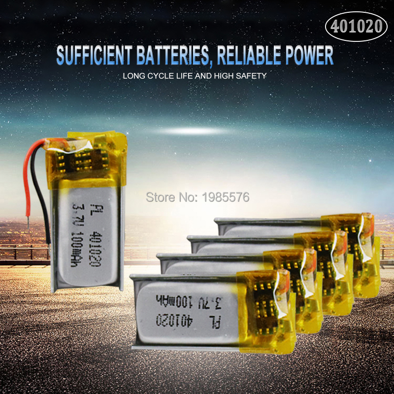 <font><b>3.7v</b></font> <font><b>50mah</b></font> 401020 Lithium polymer Rechargeable <font><b>Battery</b></font> For Toys Bluetooth speaker Bluetooth headset digital products image