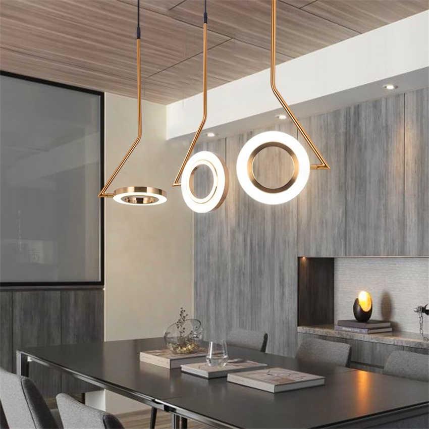 Скандинавские дизайнерские светильники подвесные светильники Лофт Спальня прикроватный Ресторан светодиодный Люстра Освещение Luminaria бар латунь Кухонные светильники