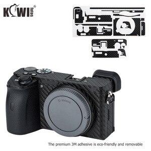 Image 3 - KIWIFOTOS anti rayures caméra corps couverture en Fiber de carbone Film Kit peau pour Sony A6600 3M autocollant avec Film de rechange caméras Protection