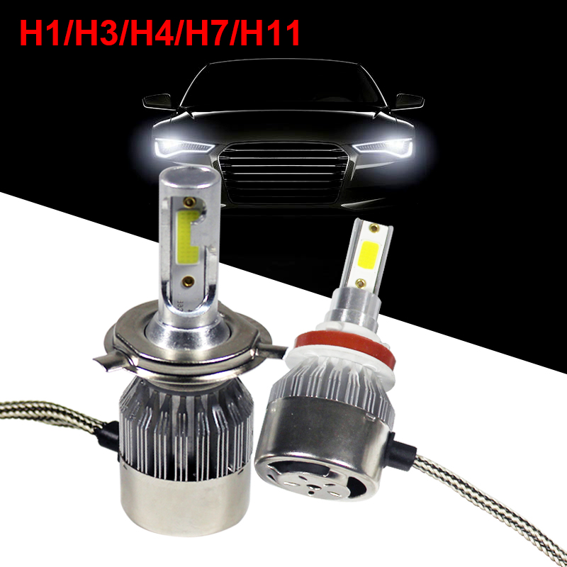 H1 H3 H4 H7 H11 LED Car Headlight 36W 12v 6000K Bulbs Waterproof Lamp Decoration Auto High And Low Light