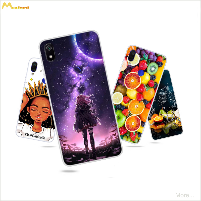 Redmi7A Case For <font><b>Xiaomi</b></font> <font><b>Redmi</b></font> <font><b>Note</b></font> <font><b>7</b></font> <font><b>PRO</b></font> 7A Phone Cover Coque On <font><b>Redmi</b></font> Note7 64gb <font><b>128gb</b></font> <font><b>global</b></font> Fruit Butterfly Patterned Skin image