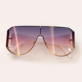 Moda gogle okulary przeciwsłoneczne damskie 2019 wysokiej jakości okulary przeciwsłoneczne Oversize okulary damskie okulary kwadratowe okulary De Sol tanie i dobre opinie OUTMIX Kobiety Octan Plac Lustro UV400 Gradient Dla dorosłych EE Sunglasses Cr-39 Square Sunglasses Women Women Sunglasses ch4 9