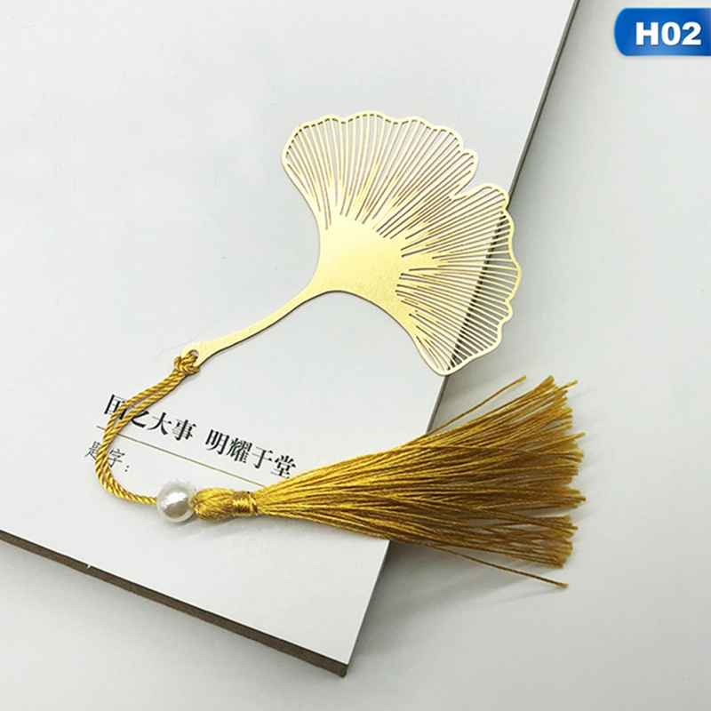 Fine Vein And Leaf Bookmarks Literature Art Students Use High-value Brass Bookmarks Sycamore Leaf Gifts
