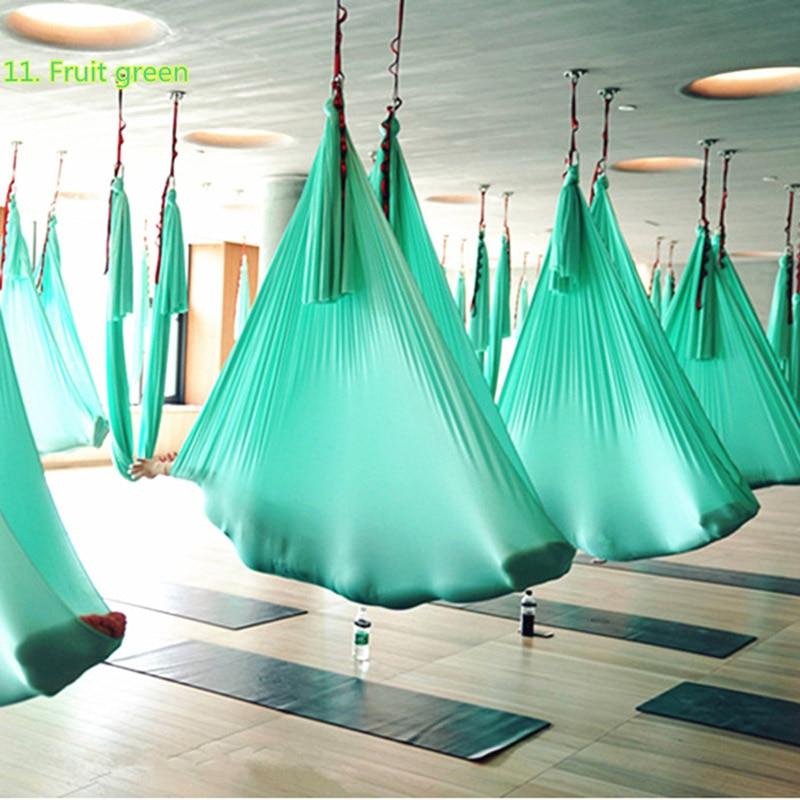 PRIOR FITNESS Aukšto stiprumo oro jogos hamakų komplektas 5Mx2.8M, - Fitnesas ir kultūrizmas - Nuotrauka 2