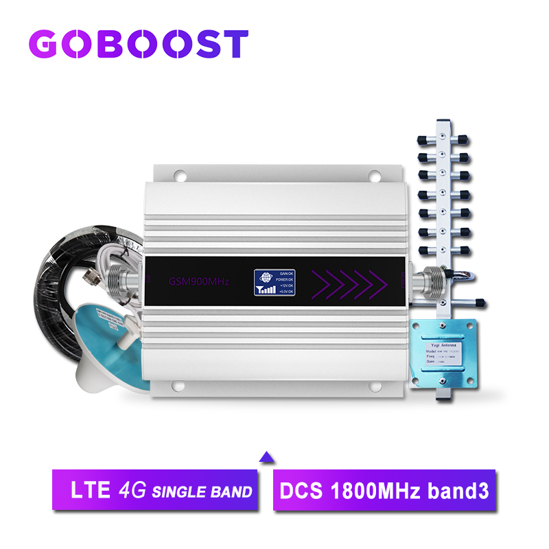 LTE 4G Signal Booster GSM 1800 Cellular Signal Booster Signal For Mobile Phones 4G Repeater DCS Band3 LCD Dispaly Antenna Kit