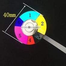 Rueda de Color para proyector optoma HD25 HD25LV HD26 HD27 HD28DSE EH200ST, diámetro del proyector 40mm, 6 colores