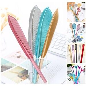 Creative Funny Mermaid Key Cat Plume Feather Gel Pen Kawaii School Office Kit Accessory Cute Stationery Pen Thing Material Item