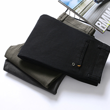 Высокое качество ткани хлопок мужская осенняя одежда бизнес прямой костюм Брюки Homme Формальные Брюки классические Узкие повседневные брюки
