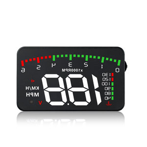 Image 1 - OBDHUD A300 OBDII Head Up Display 9 V 16 V MPH KM/H Kraftstoff Geschwindigkeit Warnung System Windschutzscheibe projektor Auto Accesorie Freies Verschiffen
