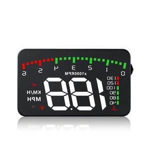Image 1 - OBDHUD A300 OBDII pantalla Head Up 9 V 16 V MPH KM/H sistema de advertencia de velocidad de combustible parabrisas proyector coche accesorios envío gratis