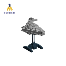 BuildMoc Mini Super Star Destroyer Blocks Wars Executor class Star Dreadnought Ship Technic Star Wars 17480 Toys Gift Bricks cheap Unisex 3 years old Type MOC-17480 Mini Interdictor Star Destroyer Only blocks do not have stickers electronic manual