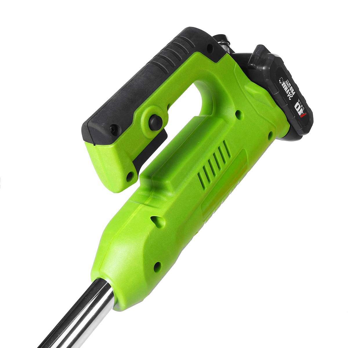 Tools : 24V Electric Lawn Mower with 2PC 3000mAh Li-ion Battery Cordless Grass Trimmer Auto Release String Cutter Garden Power Tool