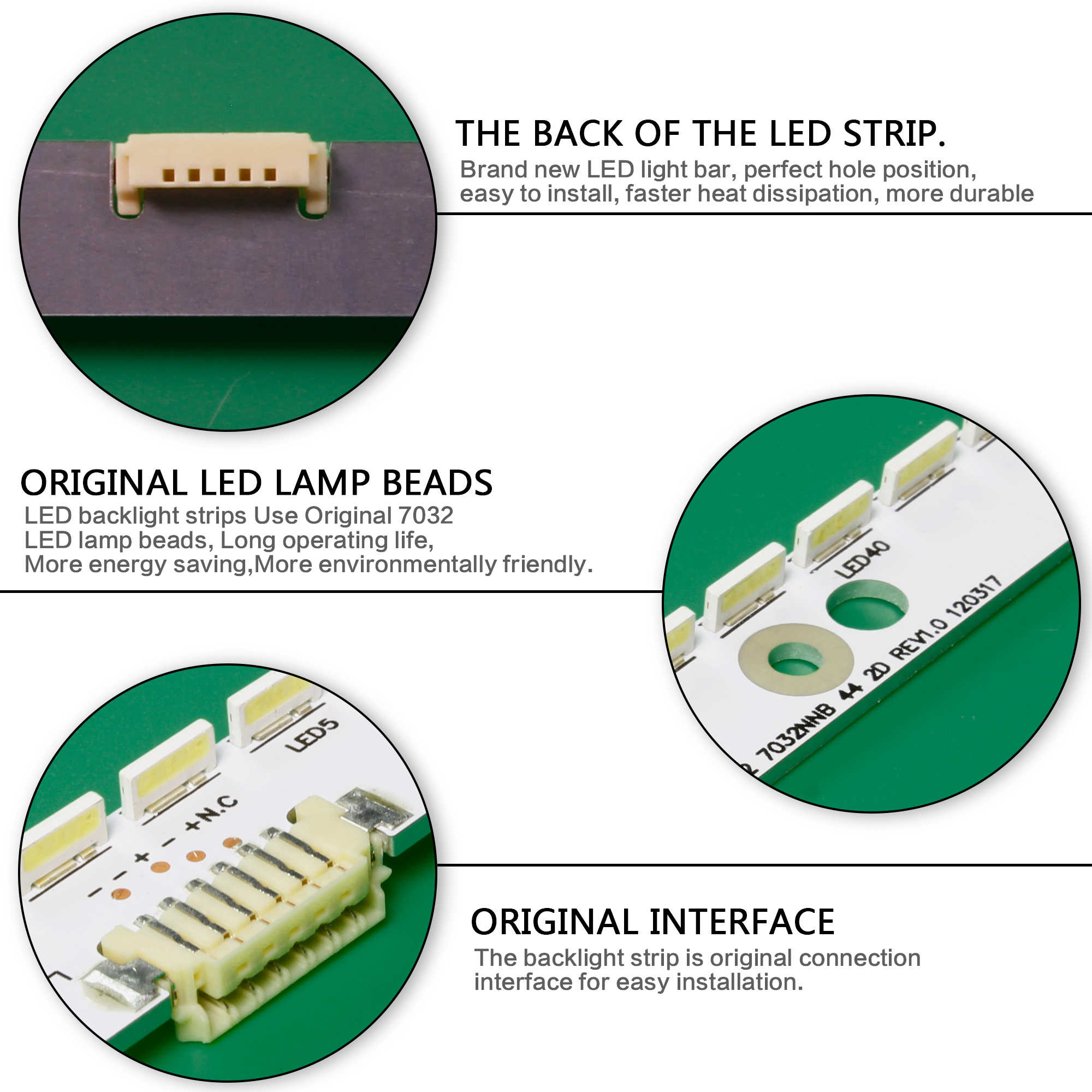 2 قطعة 6V LED شريط إضاءة خلفي 44 مصباح ل 2012svs32 7032nnb 2D V1GE-320SM0-R1 32NNB-7032LED-MCPCB UA32ES5500 UE32ES6307 UE32ES6557