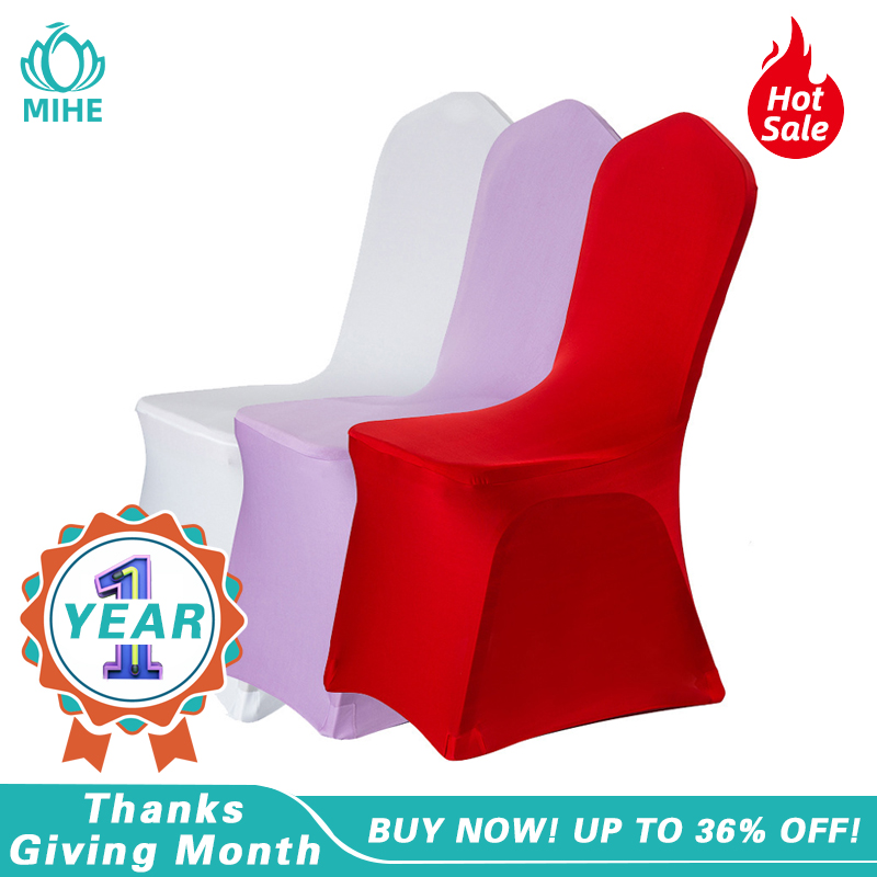 MIHE Modern Wedding Banquet Chair Cover Spandex Stretch Elastic Chair Covers Hotel Kitchen Dining Seat Covers Outdoor YZT06A