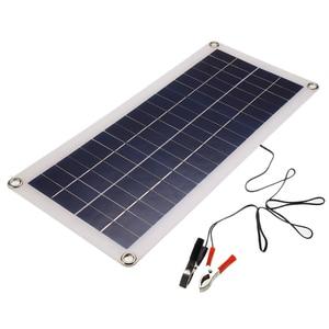 Image 4 - Panel Solar de 30W y 12V células solares de salida USB Dual, Panel Solar de polímero, controlador de 10/20/30/40/50A para cargador de bote de coche y Yate