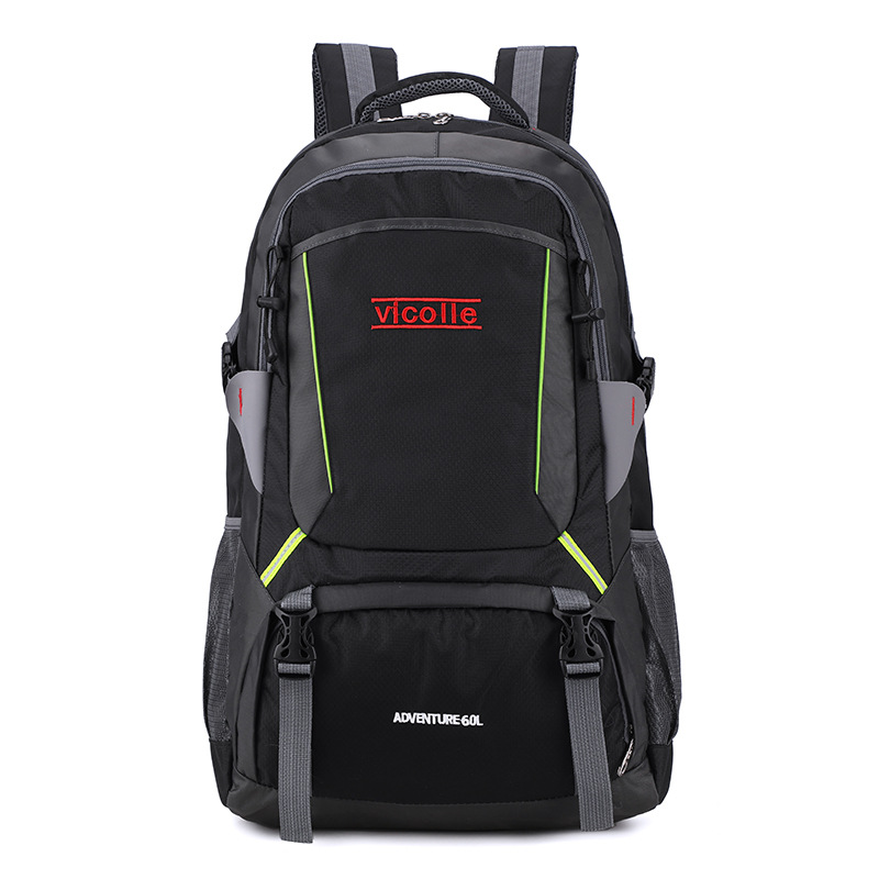60L New Style Korean-style Outdoor Mountaineering Bag Men And Women Backpack Waterproof And Breathable Casual Backpack