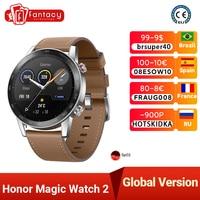 Reloj inteligente Honor Magic 2, dispositivo a prueba de agua, con monitor de frecuencia cardíaca y oxígeno en sangre, llamadas telefónicas, para Android e iOS, versión global