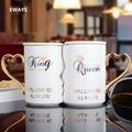 EWAYS 2 teile/satz Paar Tasse Keramik Kuss Becher Valentinstag Hochzeit Geburtstag Geschenk L2105-in Tassen aus Heim und Garten bei