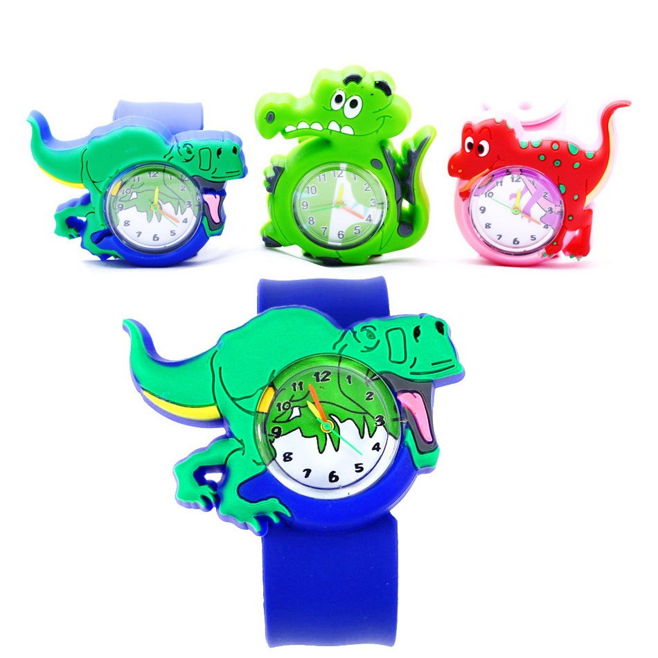 Cute Dinosaur Watches For Boys Kids' Animal Clock Cartoon Toys Slap Belt Watch Children Quartz Wristwatches