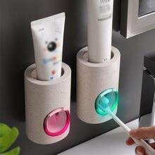 Automatische Zahnpasta Spender Staubdicht Zahnbürste Halter Wand Montieren Hause Badezimmer Zubehör Set Zahnpasta Squeezer