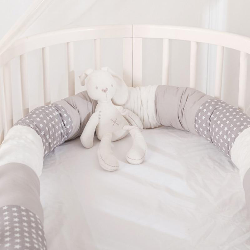Baby Bed Bumper Safe Long Pillow Anti-collision Cot Pillow Crib Bumper For Baby Cushion Bumper Protector Room Decor YZL009