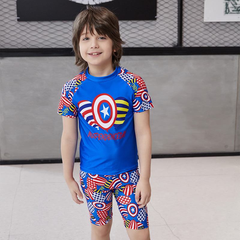 2019 Zhuo Lang New Style BOY'S Swimming Suit KID'S Swimwear Three-piece Set Swimming Training Suit Multi-color Selectable