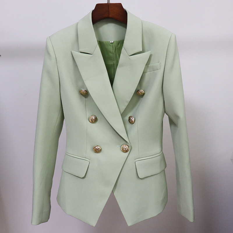 High-quality temperament women's jacket office New autumn and winter women's double-breasted ladies blazer Professional suit