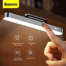 Baseus veilleuse suspendue magnétique LED lampe de Table en continu gradation lampe de bureau Rechargeable armoire lumière pour chambre cuisine