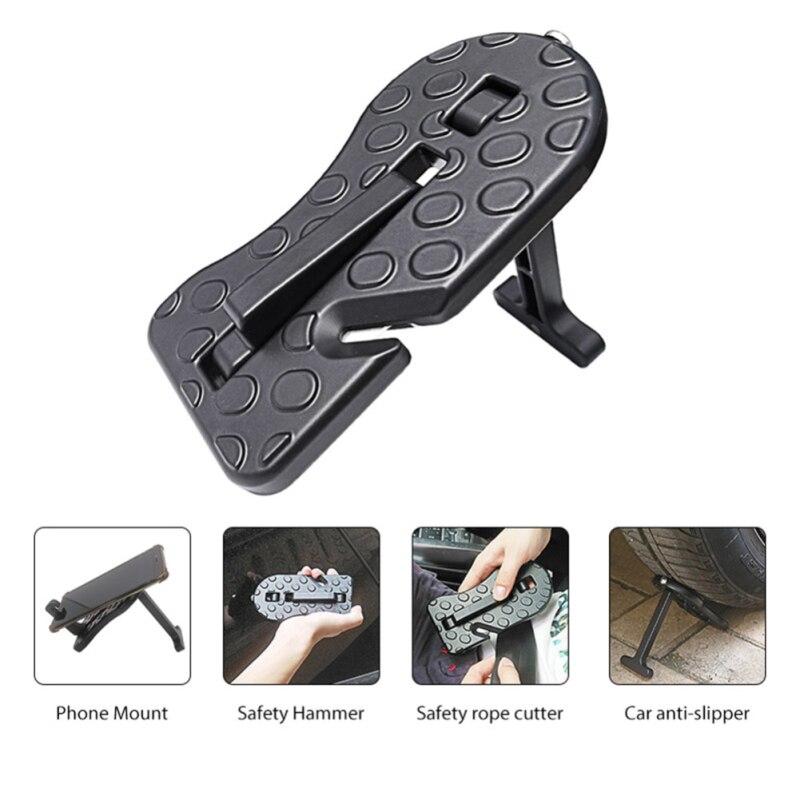 Универсальная алюминиевая Автомобильная вспомогательная педаль, автомобильная ступенька, подножка, педали с молотком Безопасности для вн...