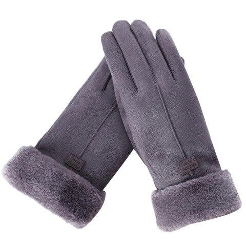 2020 New Fashion Women Gloves Autumn Winter Cute Furry Warm Mitts Full Finger Mittens Women Outdoor Sport Female Gloves Screen Multan