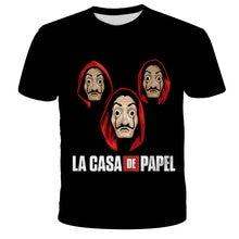 Estate 2021 uomo 3D La Casa De Papel furto di denaro per bambini Maycaur The House Of Paper T-Shirt Top Fashion manica corta