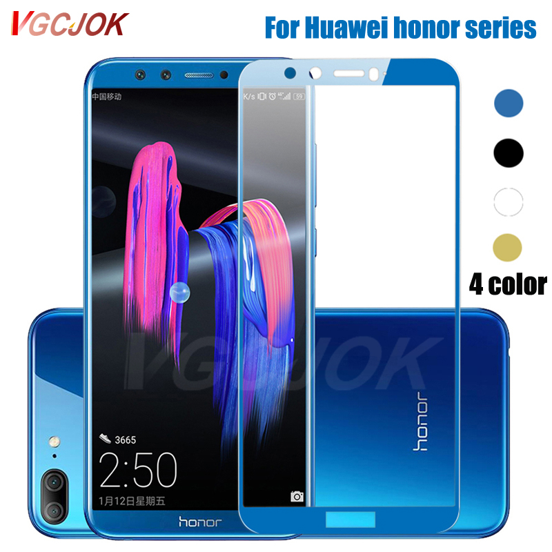 9D Full Cover Protective Glass For Huawei Honor 8 9 10 20 Lite View 8 9 10 20 V8 V9 V10 V20 Tempered Glass Screen Protector Film