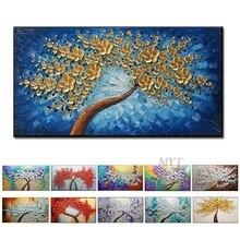 100% יד צבעוני Flowr חדש ציור על בד אמנות קיר תמונת יצירות אמנות לסלון בית תפאורה לא ממוסגר ציור תמונה