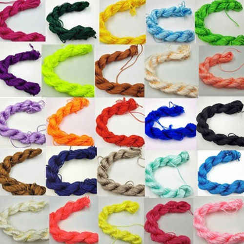 Tali Nilon 1 Mm * 26 M DIY Benang Braid String Baru Perhiasan Membuat Cina Simpul Gelang 29 Warna