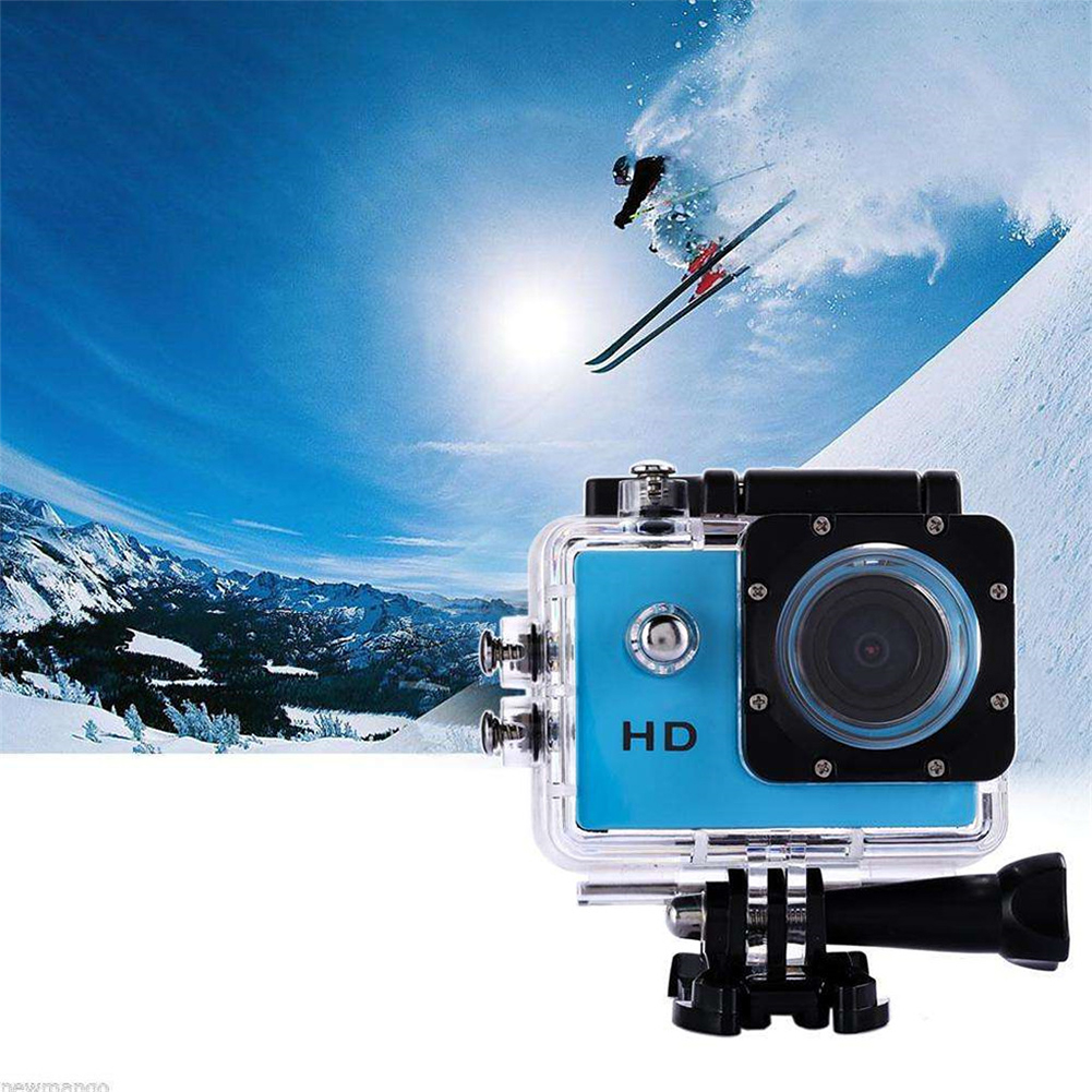 Sports Camera Full HD 1080P Waterproof Camera 2.0 Inch Camcorder Sports DV Go Car Wide-angle Cam Pro Diving Parachute Skiing