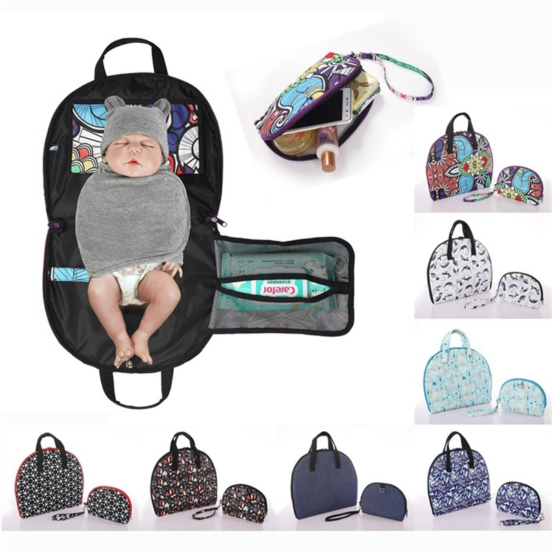 Baby Diaper Changing Mat Waterproof Baby Changer Portable Baby Changing Table Travel Changing Pad Diapering Babyt Wipes Cover