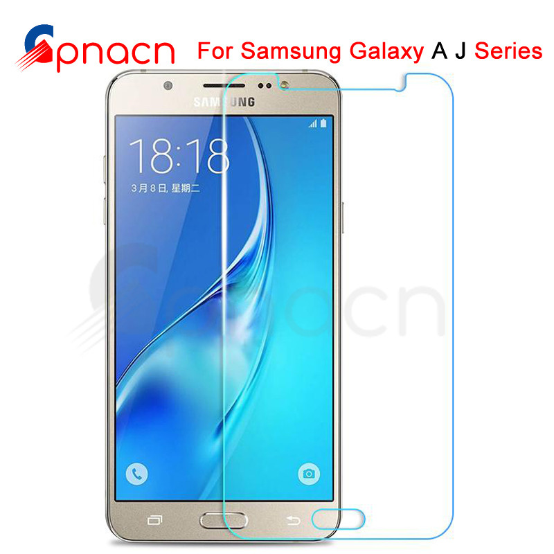 9H Protective Glass On For Samsung Galaxy J3 J5 J7 A3 A5 A7 2015 2016 2017 A6 A8 A9 2018 Tempered Screen Protector Glass Film