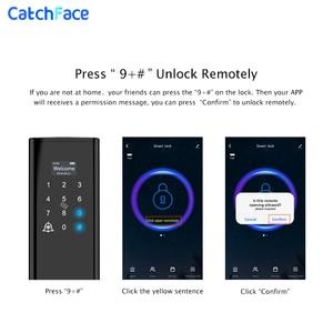 Image 3 - Tuya טביעות אצבע חכם דלת מנעול Wifi קוד RFID כרטיס מפתח דיגיטלי אלקטרוני מנעול עם פעמון בריח עבור אבטחה בבית