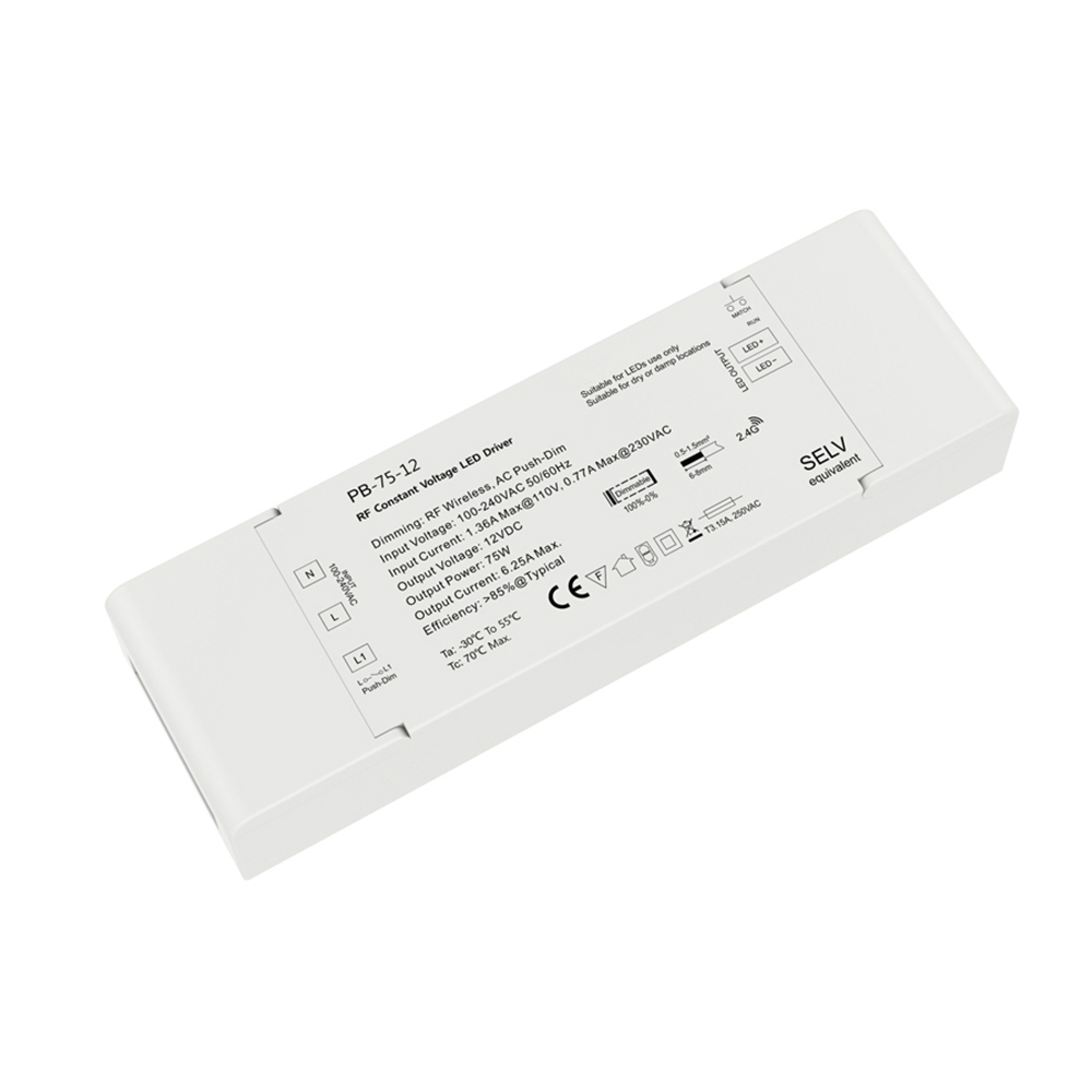 75W Dimmer Constant Voltage Driver with 2.4G Receiver controller function for single color led light Lighting Transformers DC12V image